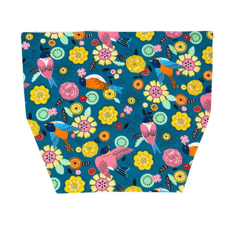 FLAP for Large Messenger Bag - Garden Party Canvas Fabric