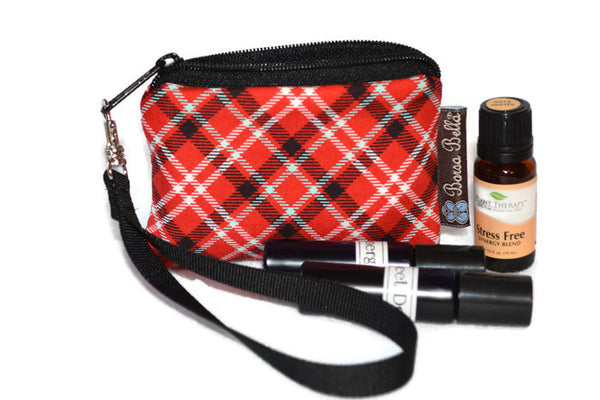 Pixy Roo Bags - Red Plaid Fabric