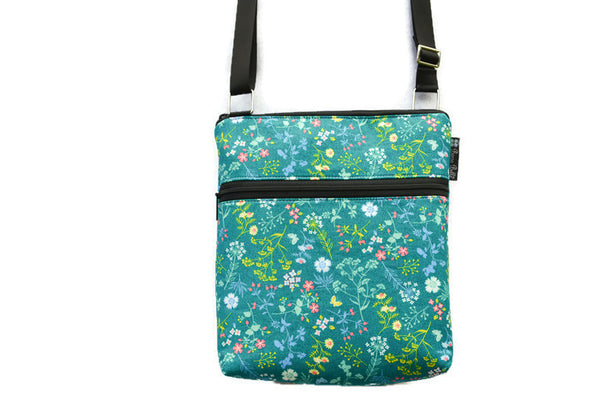 Borsetta Purse Cross Body - Shoulder Bag - Flora Fabric