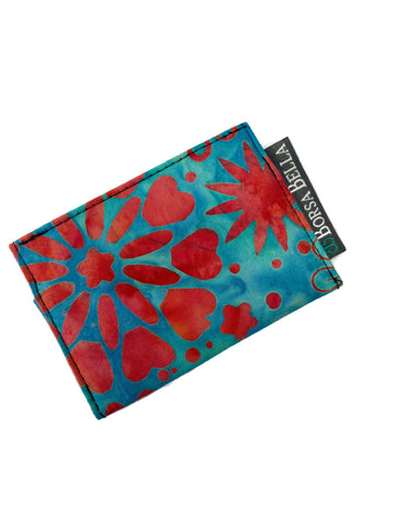 Card Holder RFID Protected - Blue Sky Batik Fabric