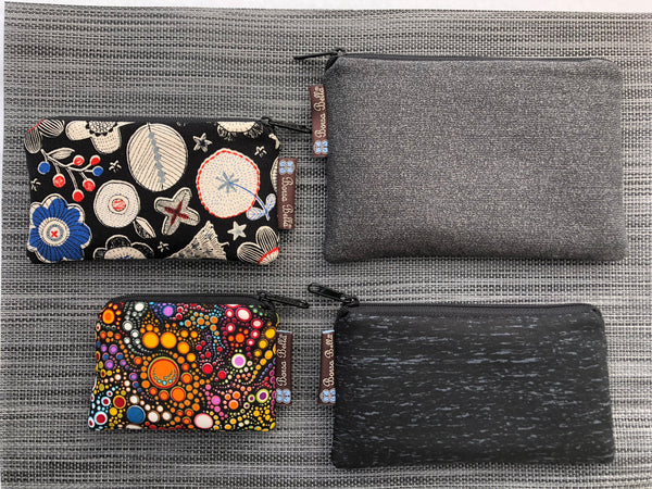 Catch All Zippered Pouch - Midnight Rain Fabric