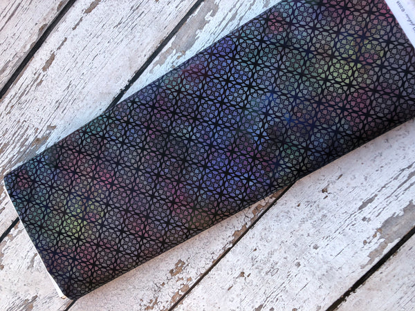 Catch All Zippered Pouch - New Purple Gray  Fabric