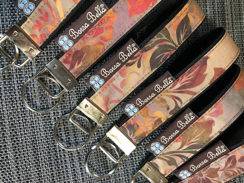 Keychain Wristlets -   New Colorful Brown Fabric