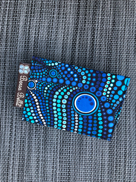 Card Holder RFID Protected -  Blue Kraken Fabric