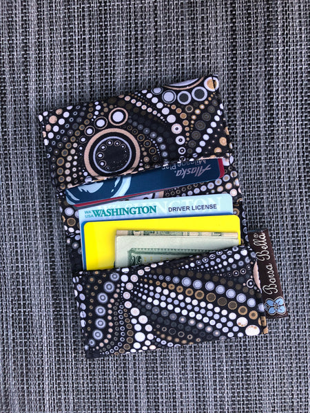 Card Holder RFID Protected -  New Stone Fabric