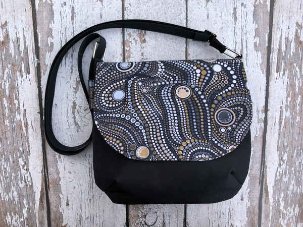 Itsy Bitsy Messenger Purse - New Stone Fabric