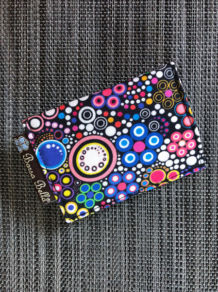 Card Holder RFID Protected -  Glorious Dots Fabric