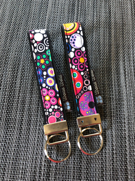 Keychain Wristlets -   Glorious Dots Fabric