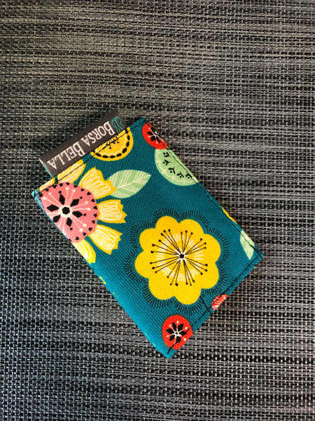 Card Holder RFID Protected - Garden Party Canvas Fabric