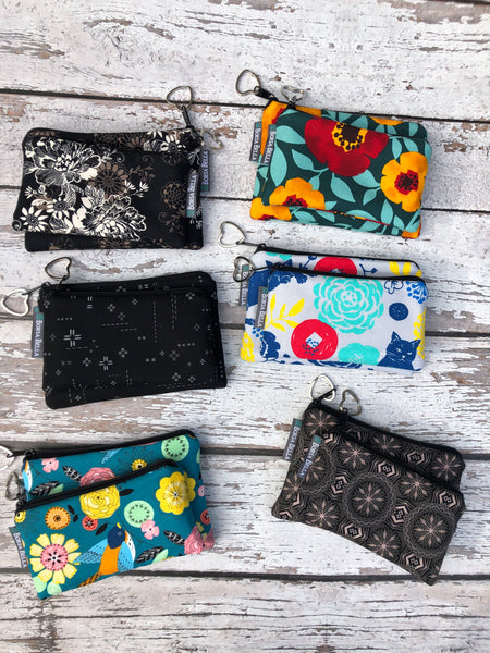 Catch All Zippered Pouch - Night Glow Fabric