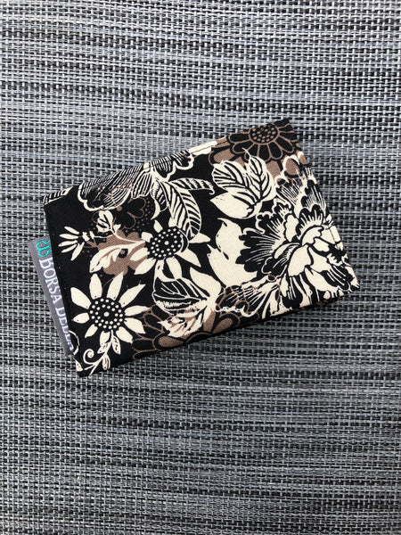 Card Holder RFID Protected - Black Beauty Fabric