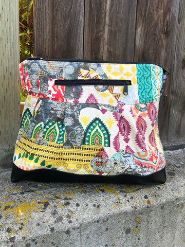 Hobo Purse Cross Body - Shoulder Bag - Indi Elephant Fabric