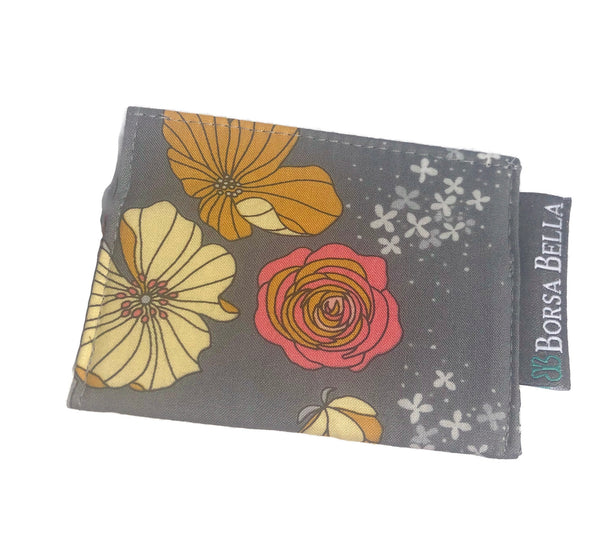 Card Holder RFID Protected -  Moonblooms Fabric