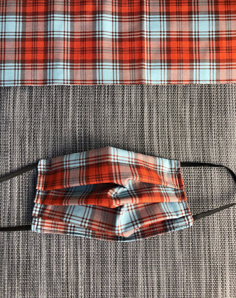 2 or 3 layer Face Mask Limited Edition - Fall Plaid Fabric