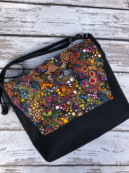 Large Messenger Bag - Happy Flap Fabric