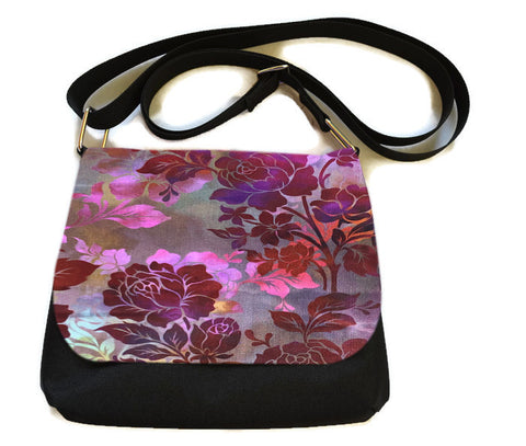 Itsy Bitsy Messenger Purse - Garden Rose Fabric