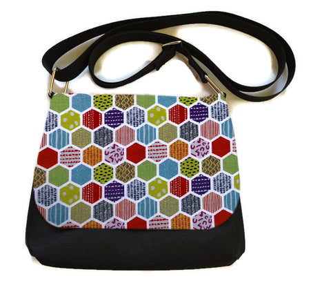 Itsy Bitsy Messenger Purse - Hexadelic Fabric