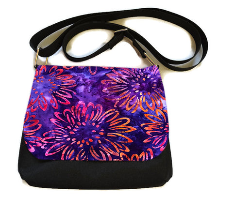 Itsy Bitsy Messenger Purse - Flower Works Fabric