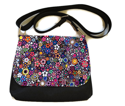Itsy Bitsy Messenger Purse - Glorious Dot Fabric