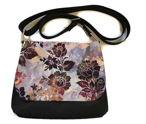 Itsy Bitsy Messenger Purse - Autumn Rose Fabric