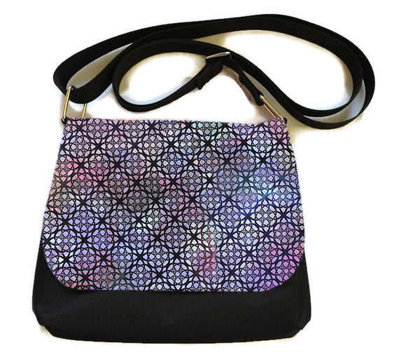 Itsy Bitsy Messenger Purse - Prism Lights Fabric