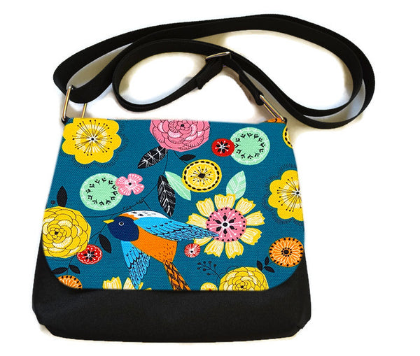Itsy Bitsy/Bigger Bitsy Messenger Purse - Garden Party Fabric