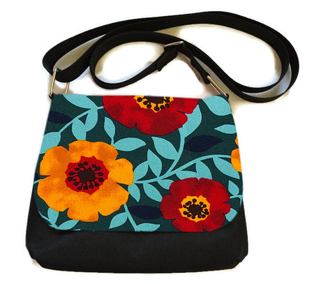 Itsy Bitsy/Bigger Bitsy Messenger Purse - Poppy Love Fabric