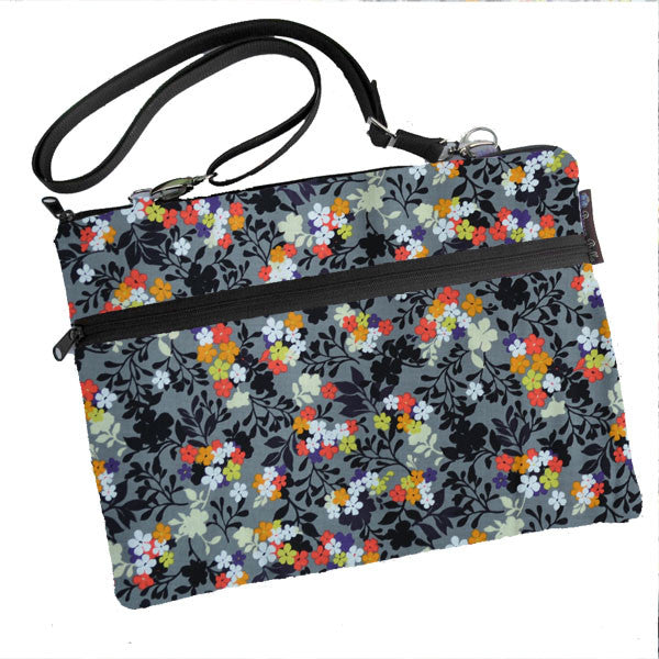 Laptop Bags - Shoulder or Cross Body - Adjustable Nylon Straps - Urban Garden Fabric