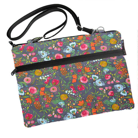 Laptop Bags - Shoulder or Cross Body - Adjustable Nylon Straps - Love Blooms Fabric