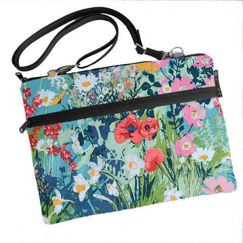 Laptop Bags - Shoulder or Cross Body - Adjustable Nylon Straps - I come to the garden... Fabric