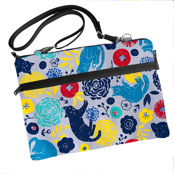 Laptop Bags - Shoulder or Cross Body - Adjustable Nylon Straps - Daisy Kitty Fabric
