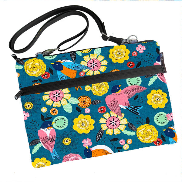 Laptop Bags - Shoulder or Cross Body - Adjustable Nylon Straps - Garden Party Fabric