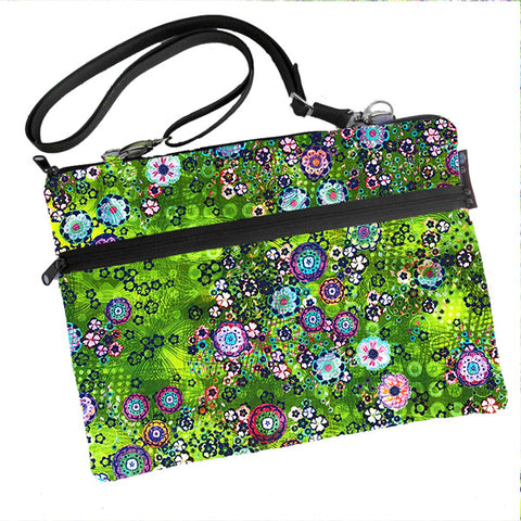 Laptop Bags - Shoulder or Cross Body - Adjustable Nylon Straps - Verde Fabric