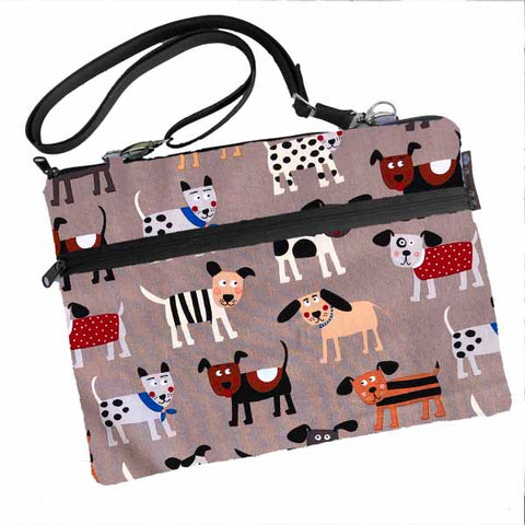 Laptop Bags - Shoulder or Cross Body - Adjustable Nylon Straps - Dog Gone Delightful Fabric