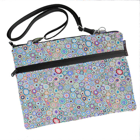 Laptop Bags - Shoulder or Cross Body - Adjustable Nylon Straps - Blanket of Blooms Fabric
