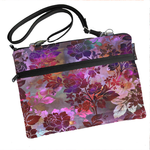 Laptop Bags - Shoulder or Cross Body - Adjustable Nylon Straps - Rose Garden Fabric