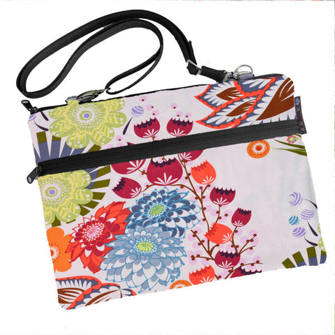 Laptop Bags - Shoulder or Cross Body - Adjustable Nylon Straps - Bella Blossoms Fabric