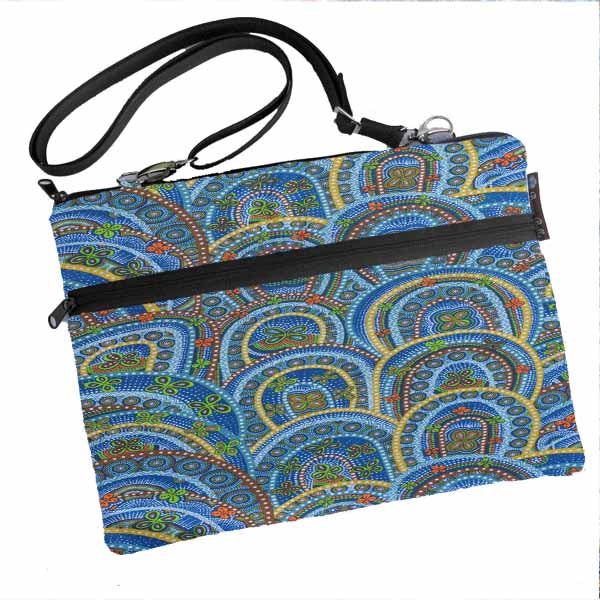 Laptop Bags - Shoulder or Cross Body - Adjustable Nylon Straps - Butterfly Rebirth Fabric