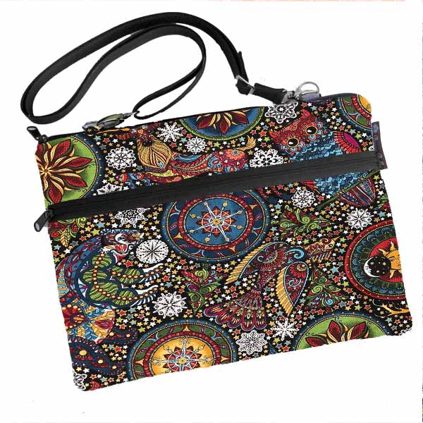 Laptop Bags - Shoulder or Cross Body - Adjustable Nylon Straps - Celestial Winter Fabric