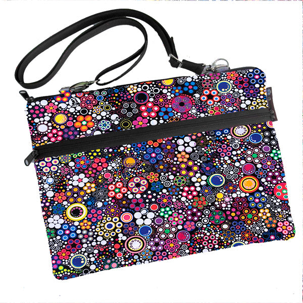 Laptop Bags - Shoulder or Cross Body - Adjustable Nylon Straps - Glorious Dot Fabric