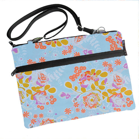Laptop Bags - Shoulder or Cross Body - Adjustable Nylon Straps - Blue Bliss Fabric