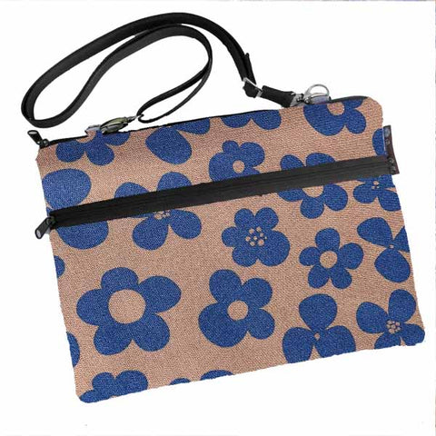 Laptop Bags - Shoulder or Cross Body - Adjustable Nylon Straps - Blue Bayou Canvas Fabric