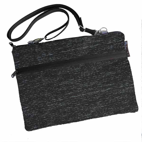 Laptop Bags - Shoulder or Cross Body - Adjustable Nylon Straps - Midnight Rain Fabric