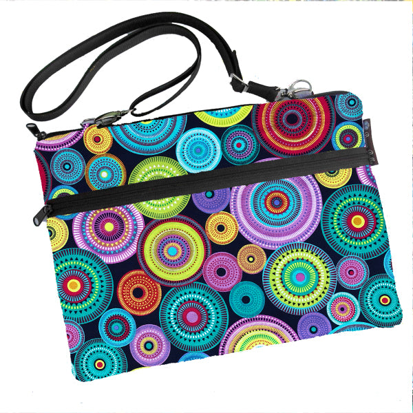 Laptop Bags - Shoulder or Cross Body - Adjustable Nylon Straps - Norther Lights Fabric