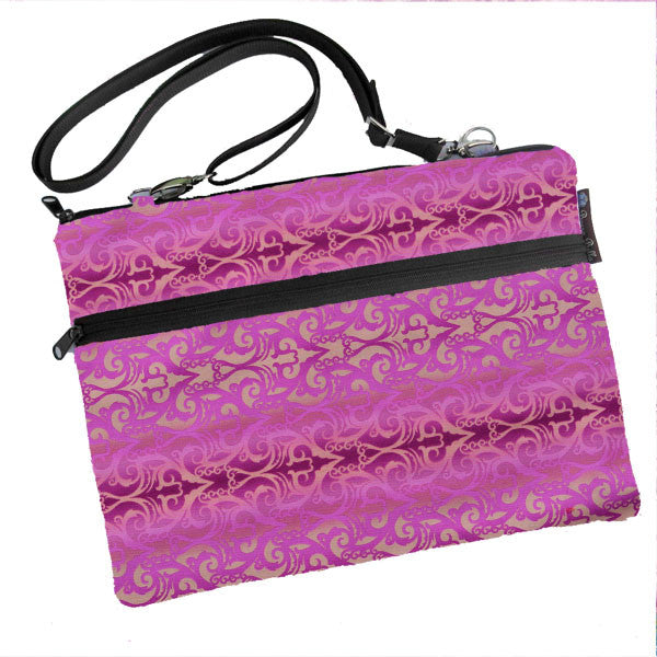 Laptop Bags - Shoulder or Cross Body - Adjustable Nylon Straps - Pretty in Pink Fabric