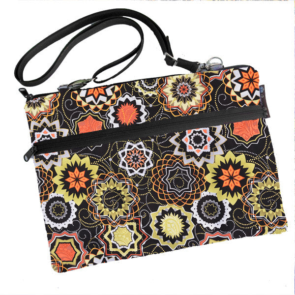 Laptop Bags - Shoulder or Cross Body - Adjustable Nylon Straps - Madallion Fabric