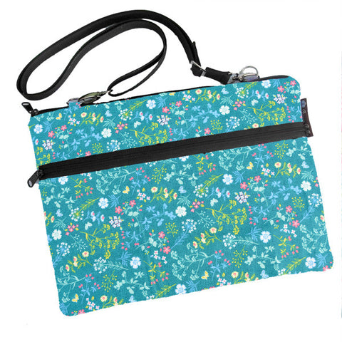 Laptop Bags - Shoulder or Cross Body - Adjustable Nylon Straps - Flora Fabric