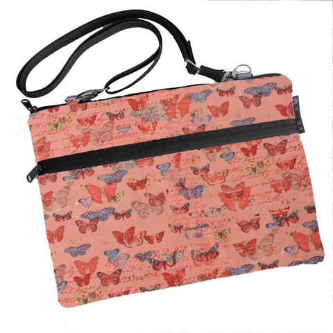 Laptop Bags - Shoulder or Cross Body - Adjustable Nylon Straps - Butterfly Wishes Fabric