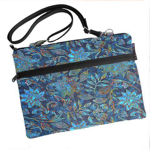 Laptop Bags - Shoulder or Cross Body - Adjustable Nylon Straps - Electric Blue Fabric