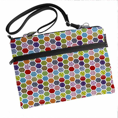 Laptop Bags - Shoulder or Cross Body - Adjustable Nylon Straps - Hexadelic Fabric